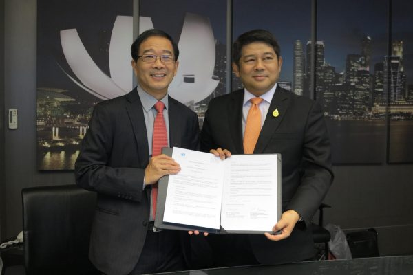 George participating in MOU signing to train Thai Judiciary in Mediation